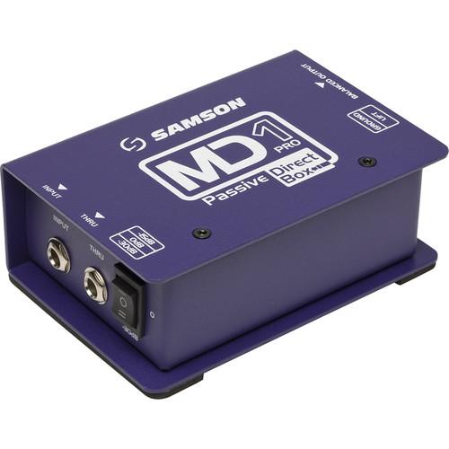 Samson S-MAX MD1 Pro Single Channel Passive Direct Box