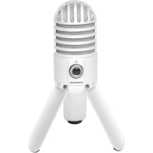 Samson Meteor Mic USB Studio Condenser Microphone (White)