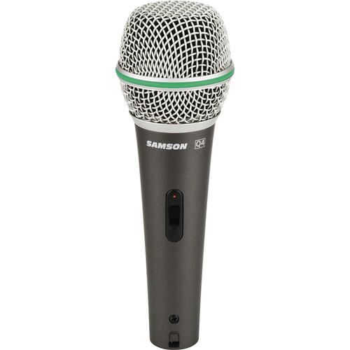 Samson Q4 Dynamic Microphone with On/Off Switch