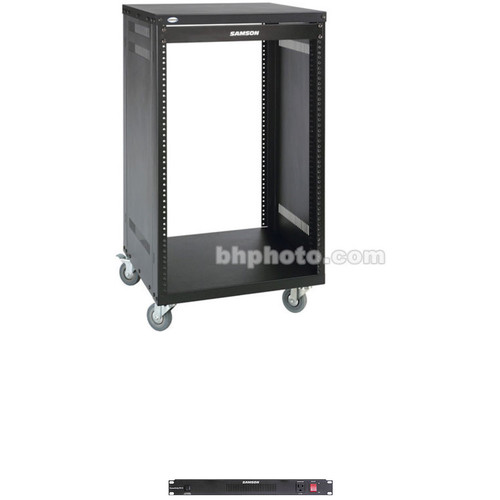 Samson Universal Equipment Rack with PowerStrip PS15 Power Distributor (12 RU)