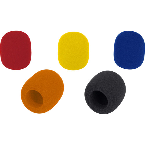Samson WS1C Microphone Windscreens for Q/R/Concert/Synth 7/Stage/UM1/UM77 Series (5-Pack, Mixed Colors)
