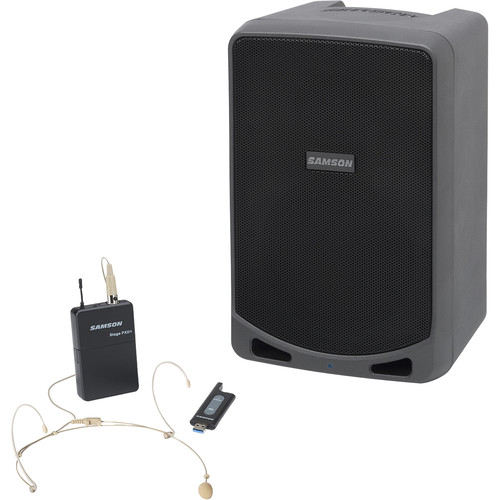 Samson Expedition XP106wDE Portable PA System with Wireless Headset Mic System & Bluetooth
