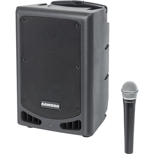 """Samson Expedition XP108w 8"""" 2-Way 200W All-In-One Portable Bluetooth-Enabled PA System (Channel 24)"""