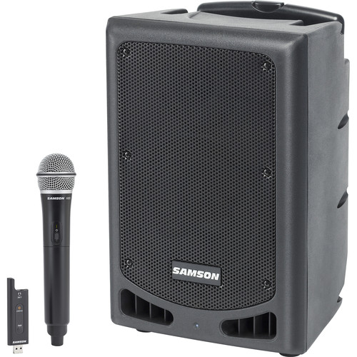 """Samson Expedition XP208w 8"""" 2-Way 200W Portable Bluetooth-Enabled PA System with Wireless Handheld Microphone"""