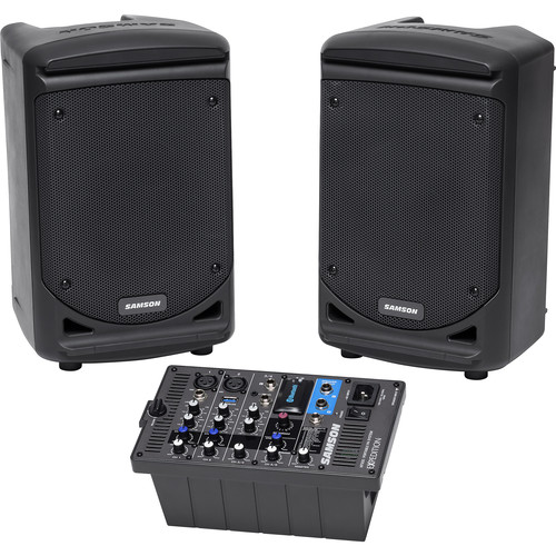"Samson Expedition XP300 6"" 2-Way 300W All-In-One Portable Bluetooth-Enabled Stereo PA System"