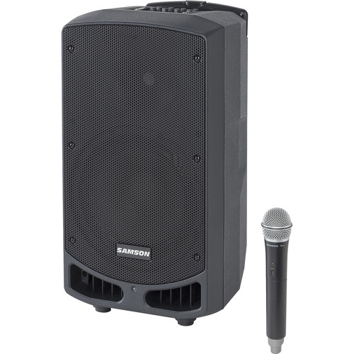 """Samson Expedition XP310w-K: 470 to 494 MHz 10"""" 300W Portable PA System with Wireless Microphone (K)"""