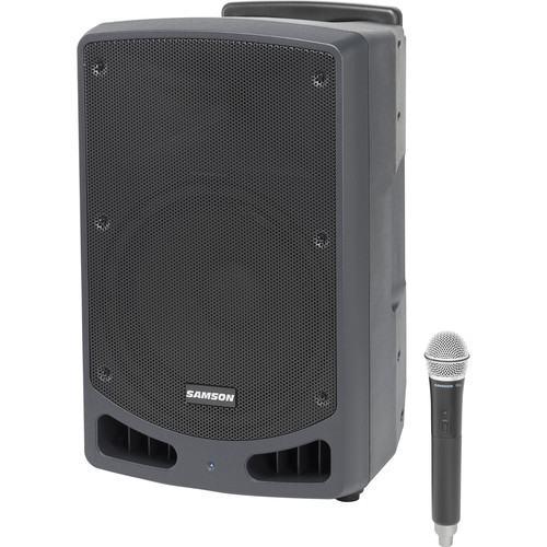 "Samson Expedition XP312w-D 12"" 300W Portable PA System with Wireless Microphone (Band D: 542 to 566 MHz)"