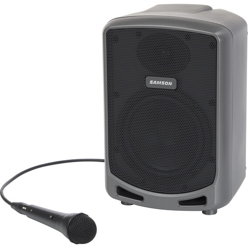 """Samson Expedition Express+ 6"""" 2-Way 75W Portable PA System with Wired Microphone"""