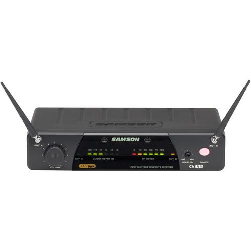 Samson CR77 Diversity Receiver with AC500 Power Supply (K2: 490.975 MHz)