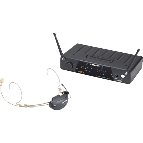 Samson Airline 77 Wireless Microphone System with DE10 Headset (K1: 489.050 MHz)