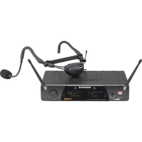 Samson AirLine 77 Wireless QE Fitness Headset Microphone System (K1: 489.050 MHz)