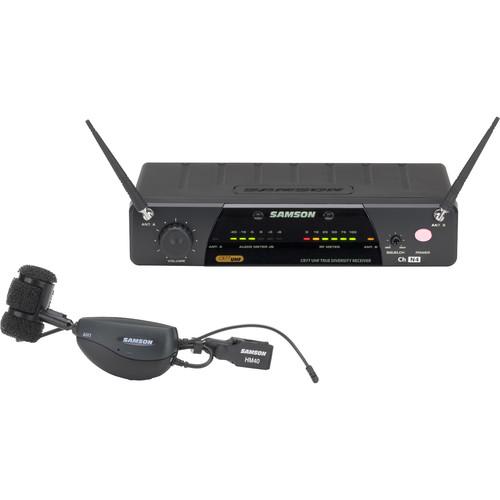 Samson AirLine 77 Wind Instrument True Diversity UHF Wireless System (K2: 490.975 MHz)