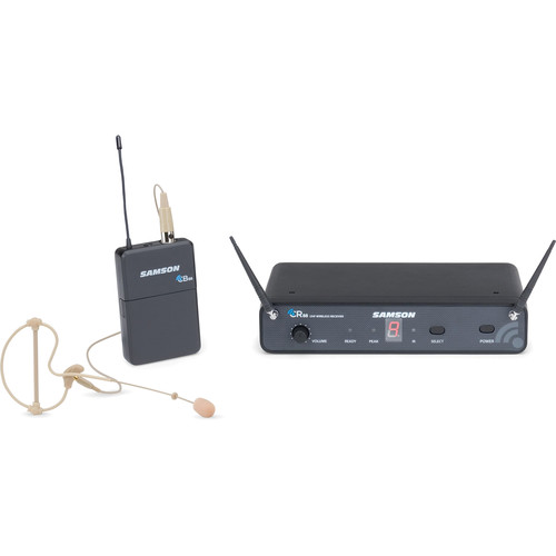 Samson Concert 88 Earset, 16-Channel True Diversity UHF Wireless System (K: 470 to 494 MHz)