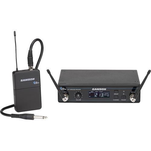 Samson Concert 99 Wireless Guitar System with GC32 Guitar Cable (Band D, 542 to 566 MHz)