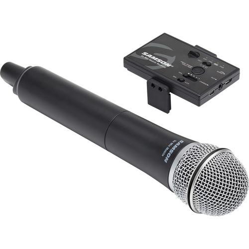 Samson Go Mic Mobile Receiver with Q8 Dynamic Handheld Mic/Transmitter
