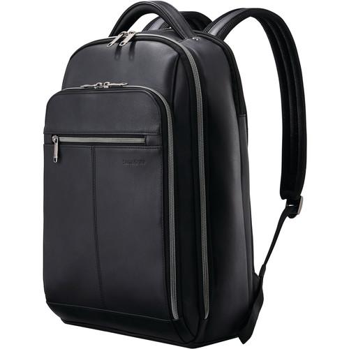 Samsonite Classic Leather Backpack (Black)
