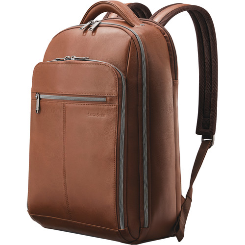 Samsonite Classic Leather Backpack (Cognac)