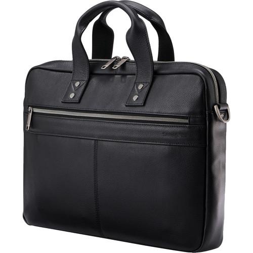 Samsonite Classic Leather Slim Brief (Black)