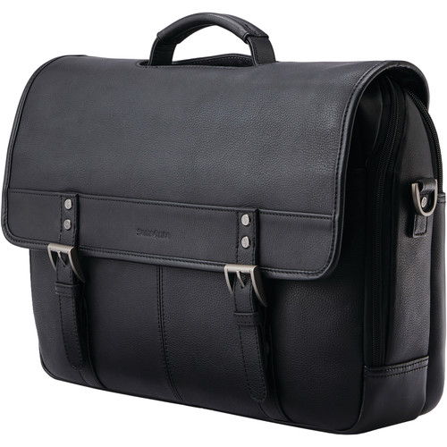 Samsonite Classic Leather Flapover (Black)