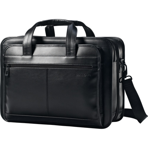 Samsonite Leather Expandable Business Case (Black)