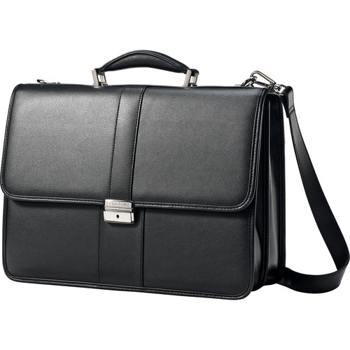 Samsonite Leather Flapover Case (Black)