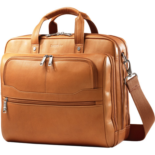 Samsonite Colombian Leather 2 Pocket Business Case (Tan)