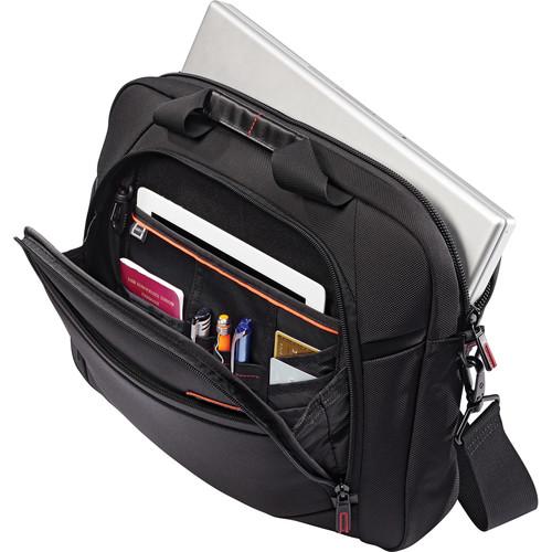"Samsonite Pro 4 DLX 15.6"" Slim Briefcase / Nylon  (Black)"