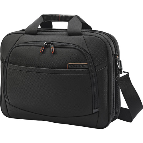 "Samsonite 15.6"" Pro 4 DLX Perfect Fit 2 Gusset Toploader Briefcase"