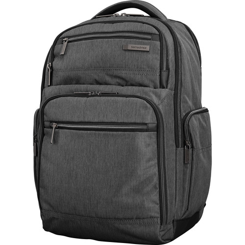 Samsonite Modern Utility Double Shot Backpack (Charcoal Heather/Charcoal)