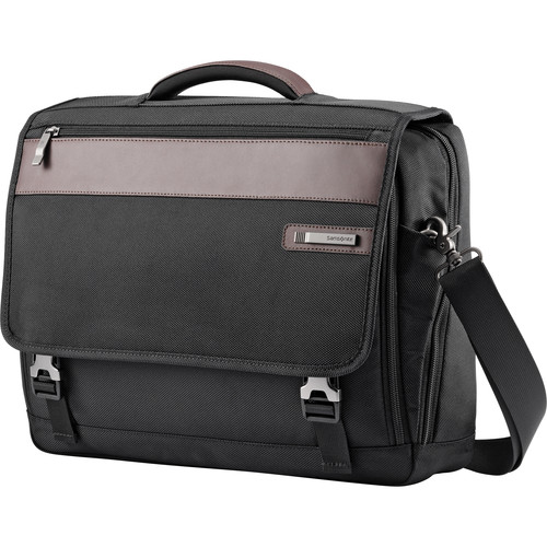 Samsonite Kombi Flapover Briefcase (Black/Brown)