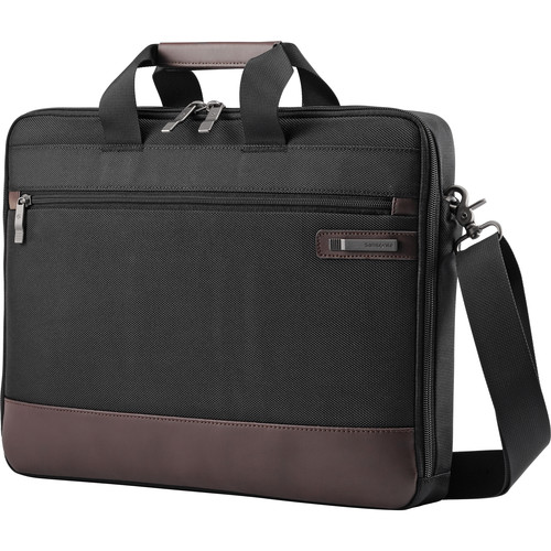 Samsonite Kombi Slim Brief Briefcase (Black/Brown)