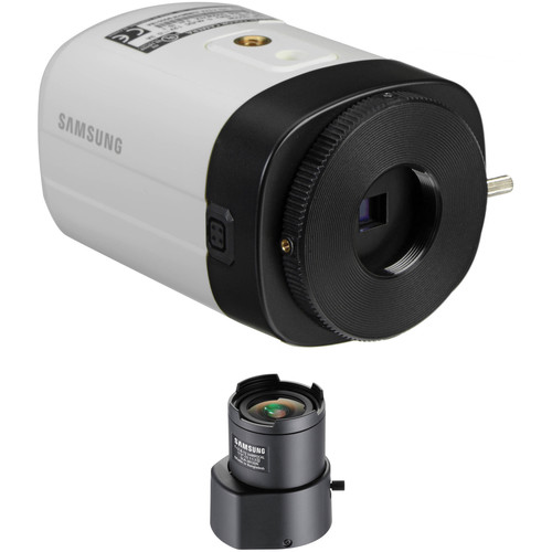 Hanwha Techwin 1280H Analog 1.3MP Box Camera and 2.8-12mm Varifocal CS-Mount Lens Kit