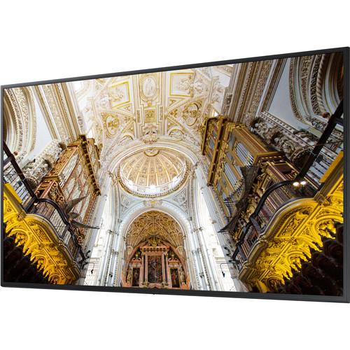 """Samsung 75"""" QB75N Edge-Lit 4K UHD LED Display for Business"""