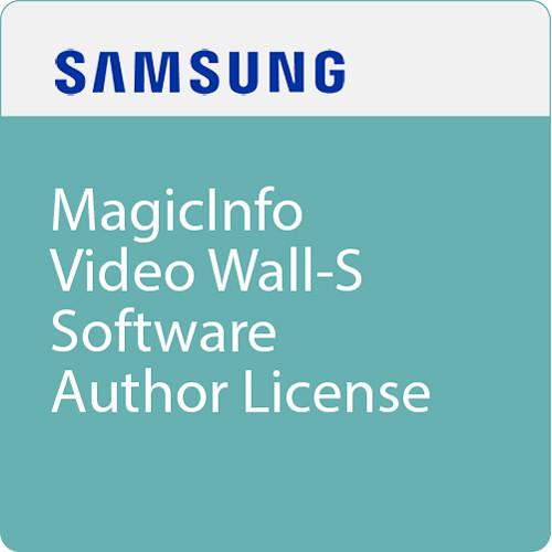 Samsung BW-MIV20AS MagicInfo Video Wall-S Software Author License