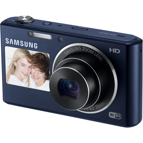 Samsung DV150F Dual-View Smart Digital Camera (Cobalt Black)