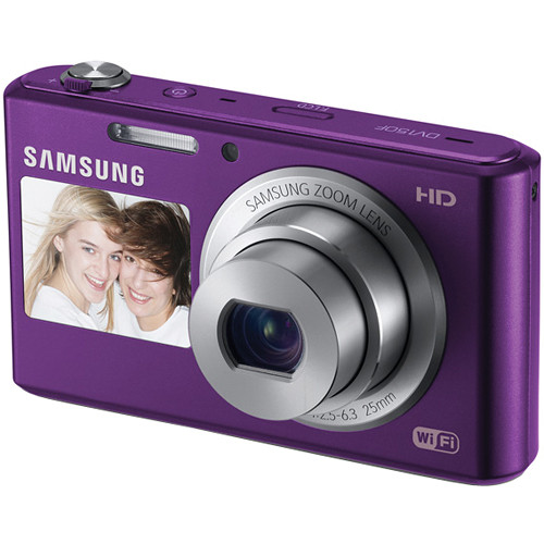 Samsung DV150F Dual-View Smart Digital Camera (Plum)