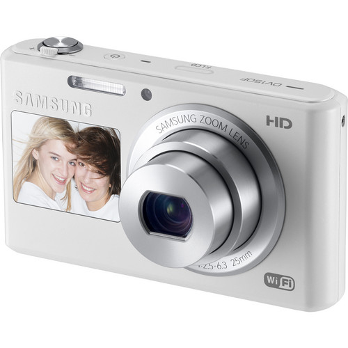 Samsung DV150F Dual-View Smart Digital Camera (White)