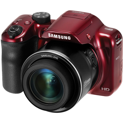 Samsung WB1100F Smart Digital Camera (Red)