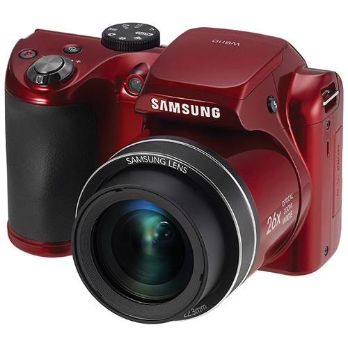 Samsung WB110 Digital Camera (Red)