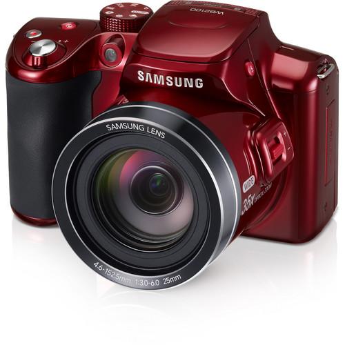 Samsung WB2100 Digital Camera (Red)