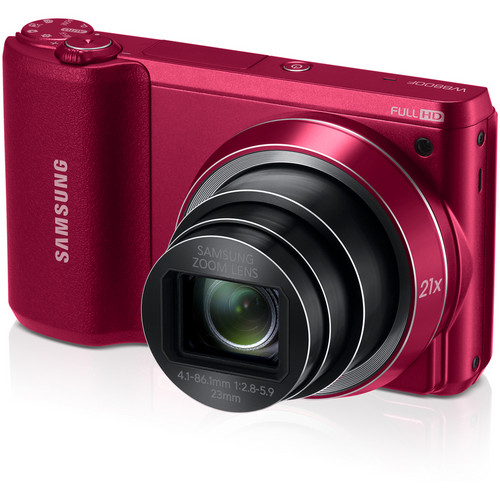 Samsung WB800F Smart Digital Camera (Red)