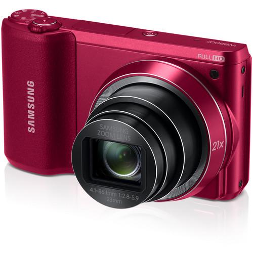 Samsung WB800F Smart Digital Camera (Red)