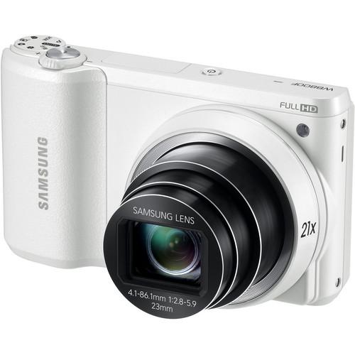 Samsung WB800F Smart Digital Camera (White)