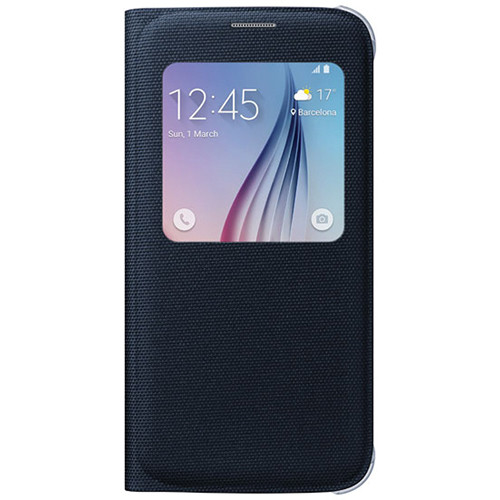 Samsung S-View Flip Cover for Galaxy S6 (Black Sapphire)