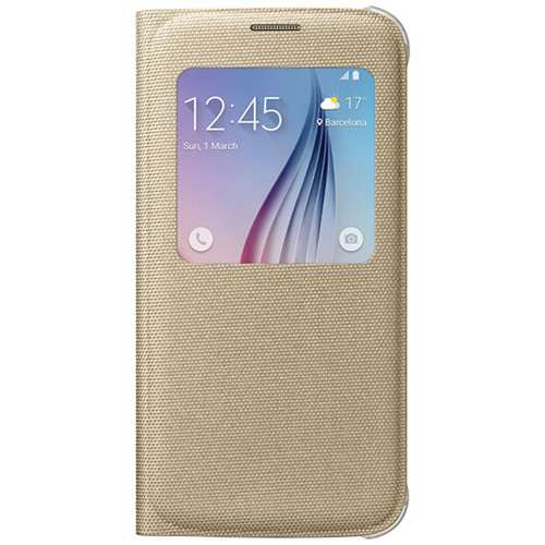 Samsung S-View Flip Cover for Galaxy S6 (Gold)