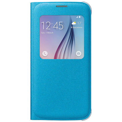 Samsung S-View Flip Cover for Galaxy S6 (Blue)