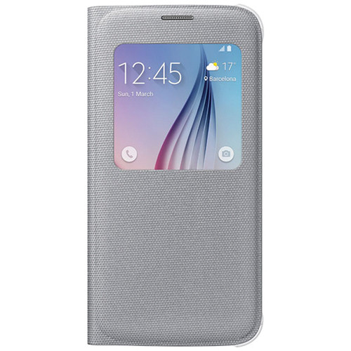 Samsung S-View Flip Cover for Galaxy S6 (Silver)