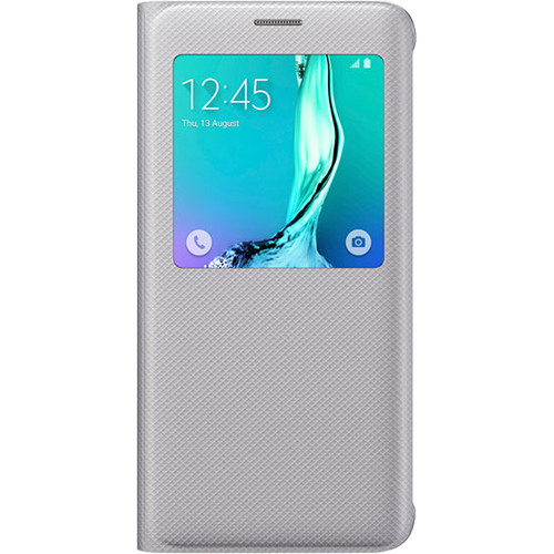 Samsung S-View Flip Cover for Galaxy S6 edge+ (Silver)
