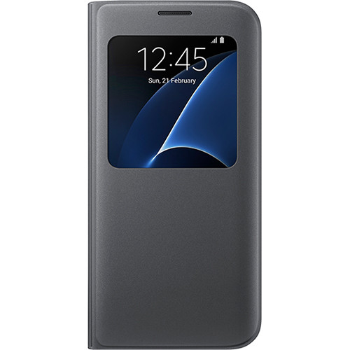 Samsung S-View Flip Cover for Galaxy S7 edge (Black)