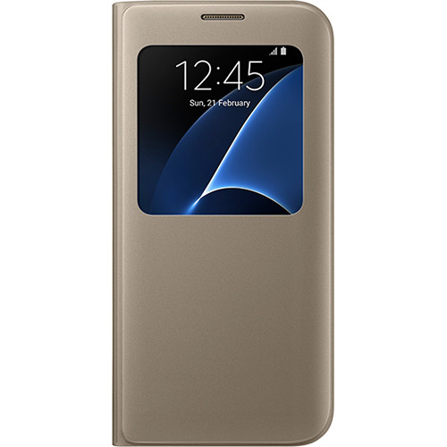 Samsung S-View Flip Cover for Galaxy S7 edge (Gold)